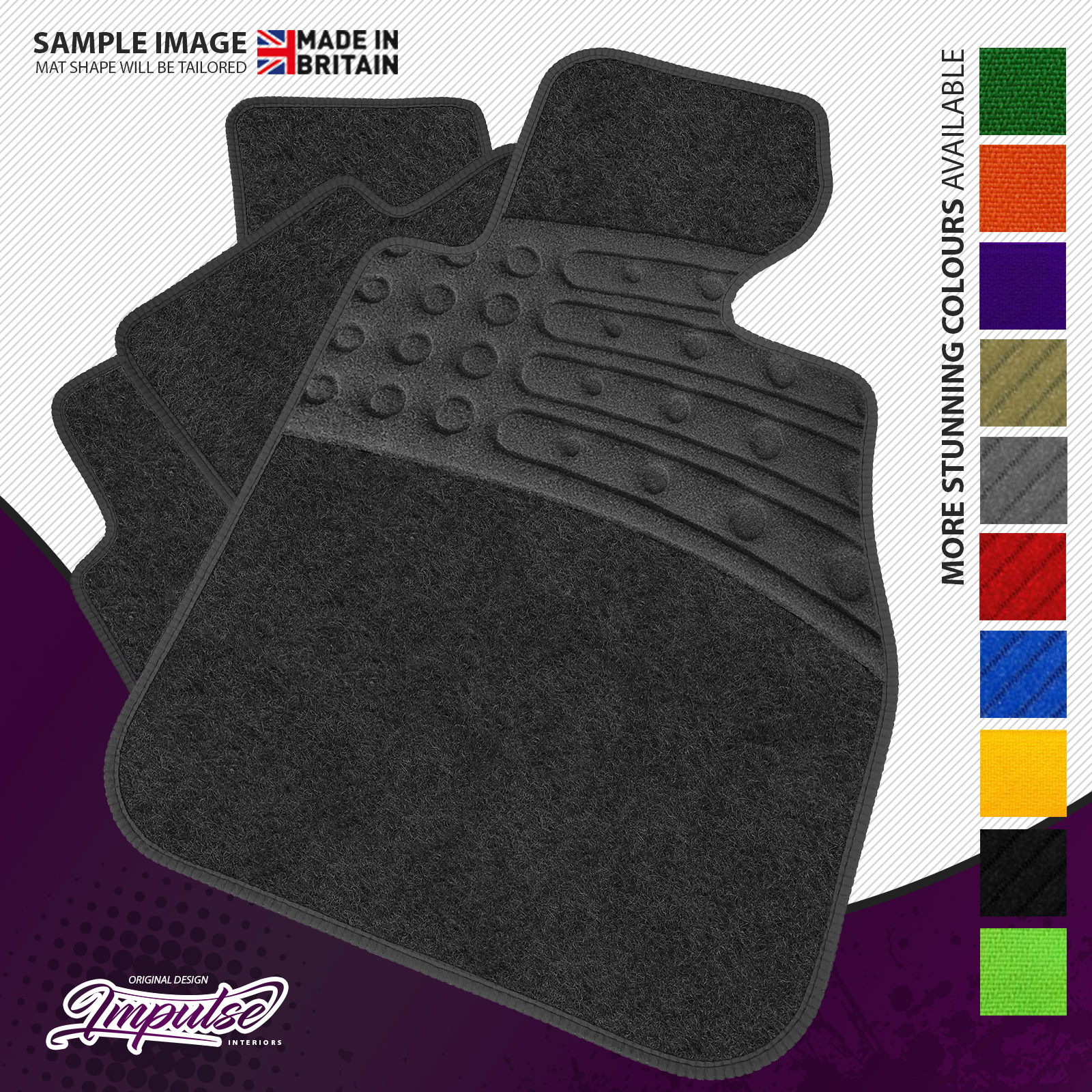 Diamond Finish With Durable Beige Ribbed Trim Luxury Rubber Car Mats for XC90 2015+